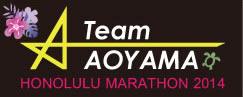 Team AOYAMA JALホノルルマラソンツアー2014